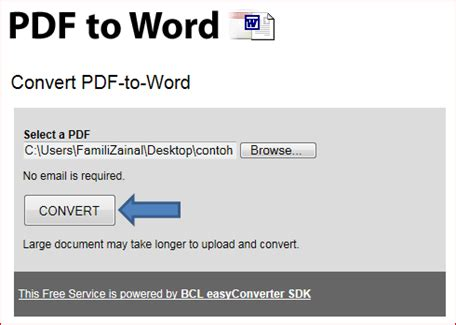 convert pdf to word via online convert pdf document to microsoft word document using