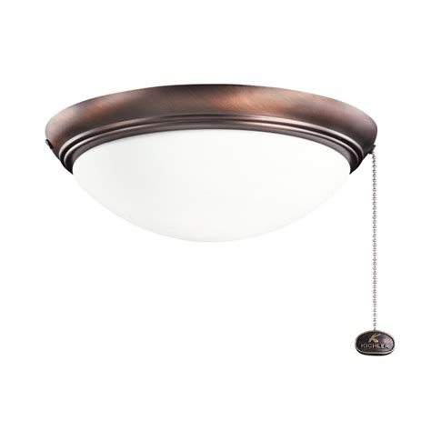 Exterior Ceiling Light Fixture Kichler 380020obb Brushed Bronze Finish Indoor Outdoor Ceiling Fan Light Fixture Kic