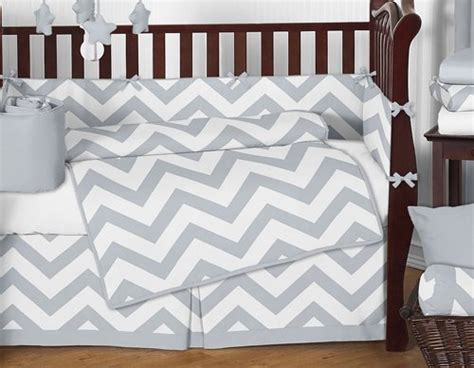 gray chevron baby bedding sweet jojo designs gray and white chevron zigzag gender neutral baby bedding 9 piece