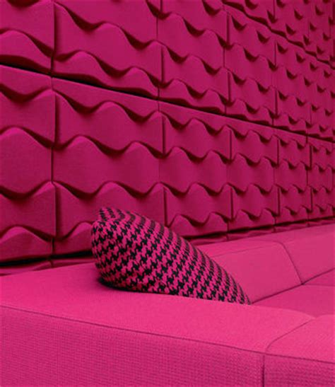 Flo Panel Batwing Big Size soundwave flo acoustic wall panel pink by offecct