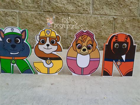 Make Your Own Wall Mural paw patrol letters wood letters with characters for birthday
