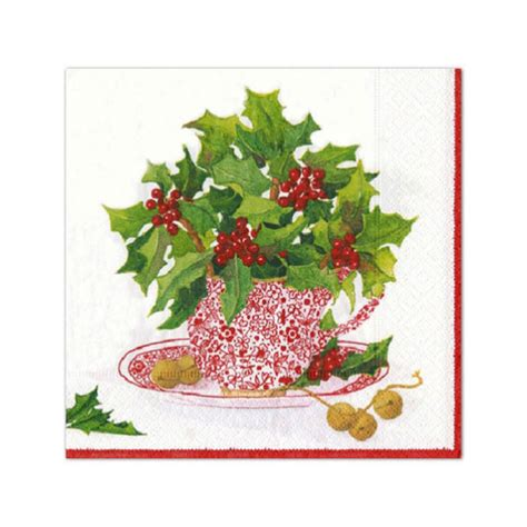 christmas tea cocktail napkins paperstyle
