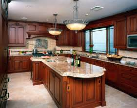Photos Of Kitchens With Cherry Cabinets Decorations Kitchen White Springs Granite With Best