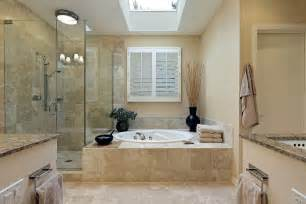 Elegant Bathroom Designs by Elegant Master Bathroom Design Come With Natural Stone