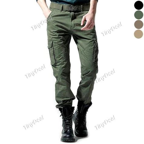 Casual Cotton Cool Cargo Trousers Pants for Boy Men NMN 231366   TinyDeal