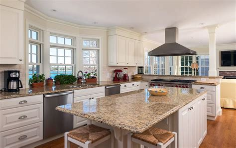 white kitchen cabinets with white granite countertops beige granite countertops colors styles designing idea