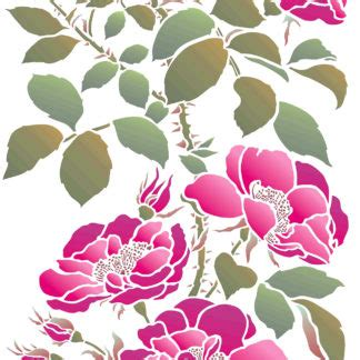 rose theme pack cottage rose stencil henny donovan motif