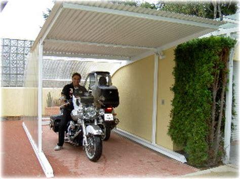 Motorradgarage Aus Glas by Metallcarports Designgaragen Terrassendach Motorradgaragen