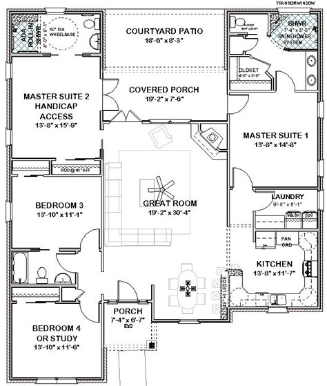 Double Master Bedroom Floor Plans by Best 25 One Story Houses Ideas On Pinterest Small Open