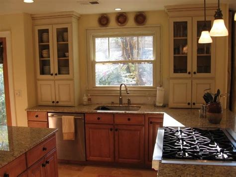 Mixed Wood Kitchen Cabinets 17 Best Images About Mixed Paint Wood Cabinets On Flooring Ideas Cabinet Design And