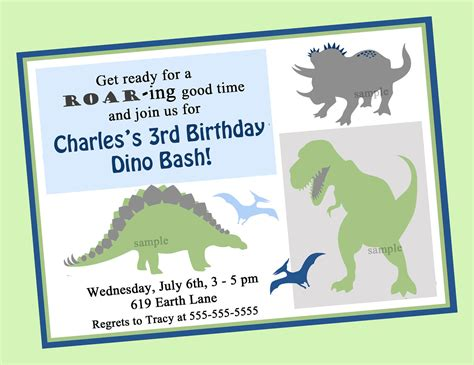 printable dinosaur invitation cards dinosaur birthday invitation printable or printed with free
