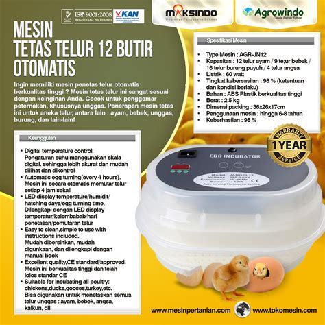 Mesin Penetas Telur Ayam Manual mesin penetas telur manual 50 butir em 50 agrowindo