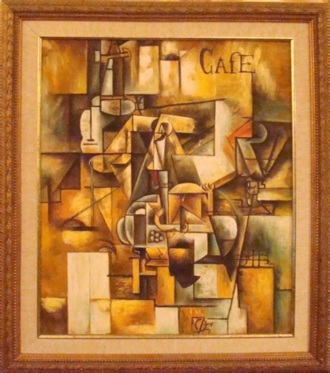 picasso paintings cafe mid century modern cubist cafe painting modernism