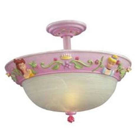 Disney Semi Flush Ceiling Light Fixture Findgift Com Princess Light Fixture