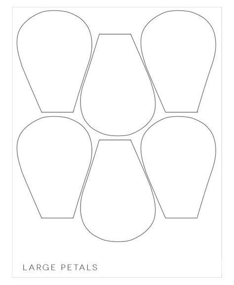 flower petals template 17 best ideas about flower petal template on