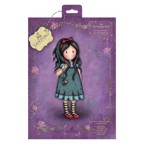 Gorjuss Decoupage - gorjuss a4 decoupage pack santoro pulling on your