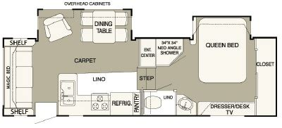 hitchhiker rv floor plans 2007 nuwa hitchhiker ii ls 26 5 rlbg floorplan
