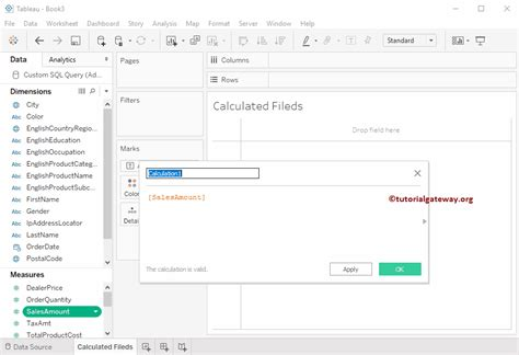 calculated in calculated field in tableau