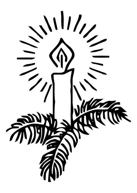 candela natalizia da colorare disegno da colorare candela natalizia cat 11335