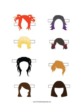 printable pictures of hairstyles paper doll page of hairstyles