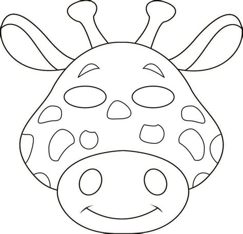printable animal masks zebra girafa animal masks colouring pages masks pinterest