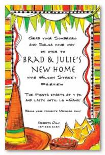 mexican fiesta theme personalized party invitations by