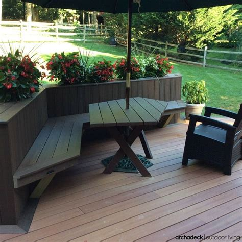 deck planters and benches 117 best images about built in deck seating benches