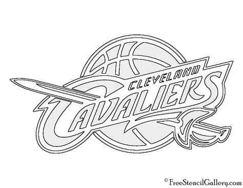 cavs coloring pages cleveland cavaliers logo coloring pages sketch coloring page