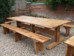 Plans For Picnic Tables And Benches by Handmade Furniture From Willow Woodland Products Logs For Sale Wood Garden Furniture