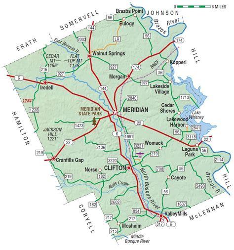 bosque county texas map bosque county the handbook of texas texas state historical association tsha