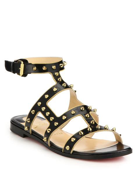 studded leather sandals christian louboutin sexystrapi studded leather sandals in