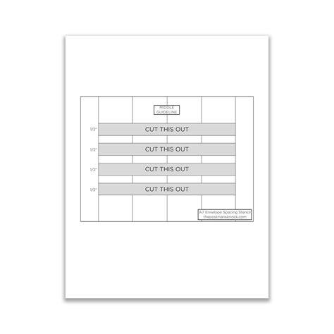 printable envelope guide printable a7 envelope stencil the postman s knock