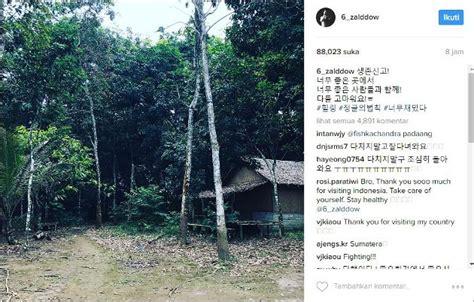 drakorindo id sungjae pamer lokasi syuting lotj sumatra penasaran