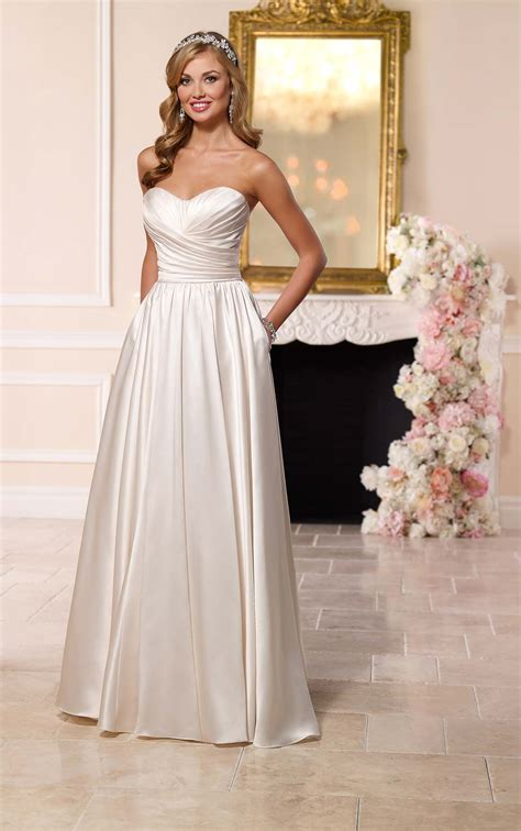 wedding dresses satin wedding dress stella york