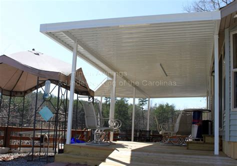 metal deck awnings aluminum awnings residential deck covers nc sc