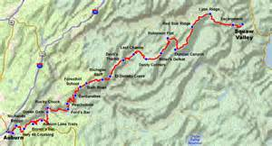 Western States Trail Map by Aid Stations Western States Endurance Run