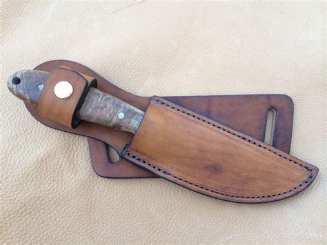 Handmade Knife Sheaths - custom leather knife sheath 8 overall 5 fixed blades