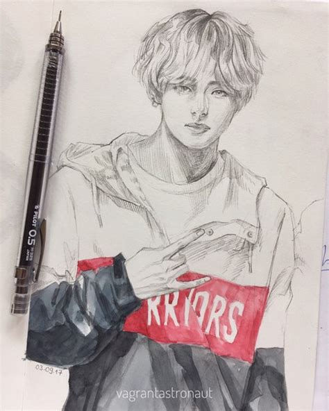 Kpop Drawing by Kpop Arts ʕ ᴥ ʔ 千卂几卂尺ㄒ Kpop Bts And Fanart