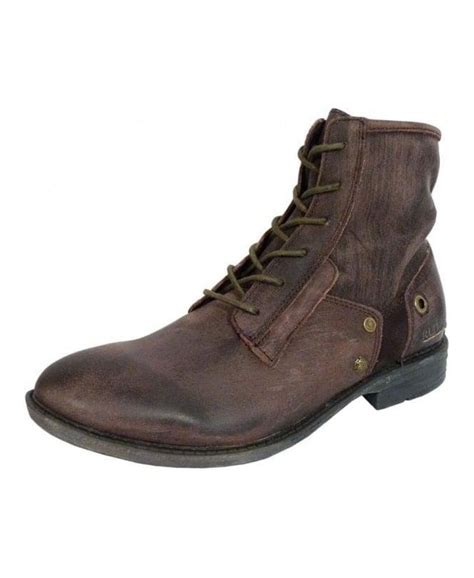 replay brown light soft leather boots shoes from