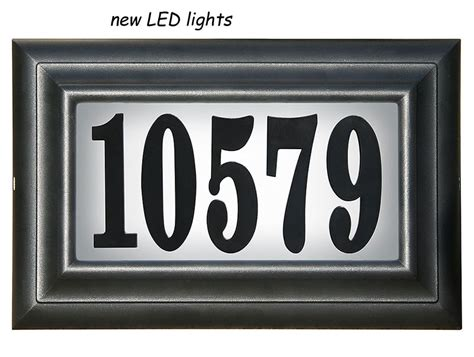 lighted house number sign do it yourself personalized lighted house number sign kit