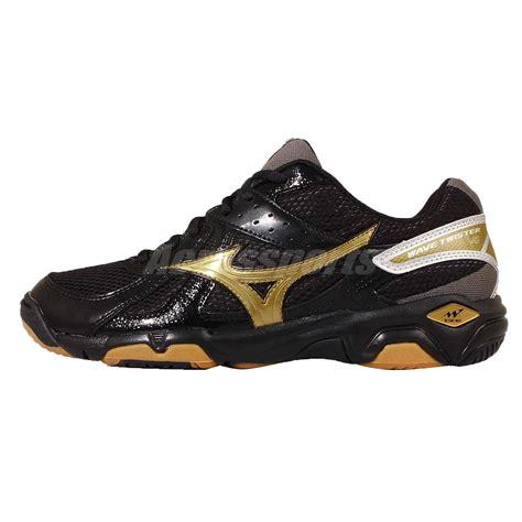 Mizuno Wave Black Gold mizuno wave 4 iv black gold mens badminton