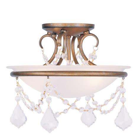 antique 2 light semi flush kitchen ceiling lights livex lighting providence 2 light ceiling antique gold