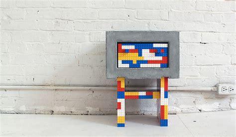 diy lego table concrete diy concrete and lego bedside tables via modern homeli