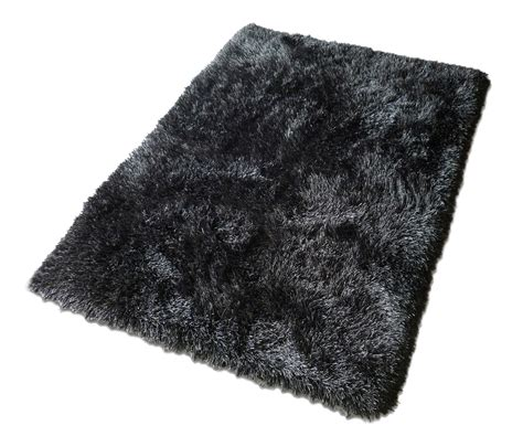 black rug black fuzzy rug rugs ideas