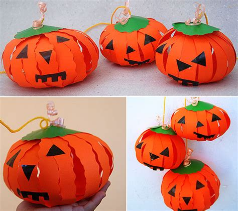 Pumpkin Paper Crafts - 4 creative pumpkin craft projects made of