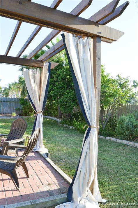 Patio Curtains Diy by Diy Pergola Curtains Curtain Menzilperde Net