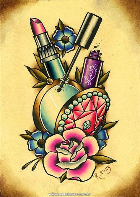 old school makeup tattoo tatuagens femininas e masculinas de rosas