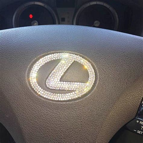 lexus steering wheel logo lexus bling steering wheel logo sticker decal emblem carsoda