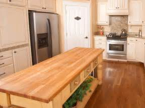 butcher block kitchen islands hgtv
