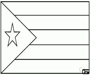 Flags Of Countries Of America Coloring Pages Printable Cuba Flag Coloring Page